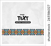 border decoration elements... | Shutterstock .eps vector #265586327