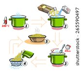 cooking infographics. step by...   Shutterstock .eps vector #265590497