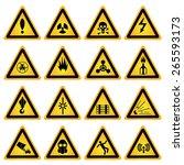standard hazard symbols | Shutterstock .eps vector #265593173