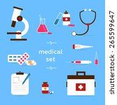medical icons  flat set | Shutterstock . vector #265599647