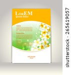 flyer  brochure or magazine... | Shutterstock .eps vector #265619057