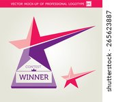 vector contest winner award star | Shutterstock .eps vector #265623887