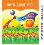 is a color pencils case design... | Shutterstock .eps vector #26563270