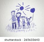 happy family | Shutterstock . vector #265633643