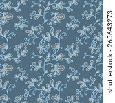 seamless floral pattern with... | Shutterstock .eps vector #265643273