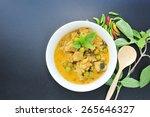 fish ball green curry  thai...   Shutterstock . vector #265646327