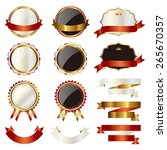 emblem set | Shutterstock .eps vector #265670357