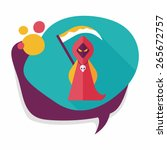 grim reaper flat icon with long ... | Shutterstock .eps vector #265672757