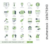business and fiinance icons set ... | Shutterstock .eps vector #265675343