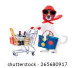 crazy and silly  jack russell... | Shutterstock . vector #265680917
