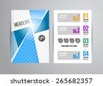 vector business flyer template... | Shutterstock .eps vector #265682357