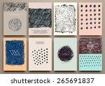 set of vintage creative cards... | Shutterstock .eps vector #265691837