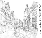 venice   fondamenta rio marin | Shutterstock . vector #265715663