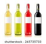 wine bottles with labels... | Shutterstock . vector #265735733