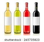 wine bottles with labels | Shutterstock . vector #265735823