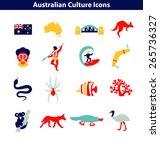 Australian Culture Icon Set....