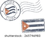 two postal grunge stamps 'cuba' | Shutterstock .eps vector #265746983
