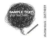 vector   pencil scribble random ... | Shutterstock .eps vector #26574859