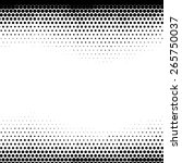 abstract dotted halftone vector ... | Shutterstock .eps vector #265750037