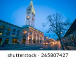 san francisco ferry building at ...   Shutterstock . vector #265807427