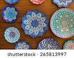 ceramic handicraft on display... | Shutterstock . vector #265813997