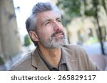 portrait of handsome mature man ... | Shutterstock . vector #265829117