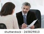 attorney meeting client in... | Shutterstock . vector #265829813