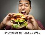 a portrait of young man have a... | Shutterstock . vector #265831967