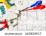 electrical equipment and tools... | Shutterstock . vector #265833917