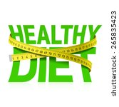 healthy diet phrase with... | Shutterstock .eps vector #265835423