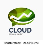 modern cloud company logo... | Shutterstock .eps vector #265841393