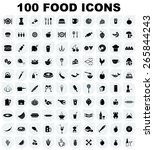vector food icon set | Shutterstock .eps vector #265844243