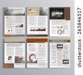 brown brochure template design... | Shutterstock .eps vector #265846517