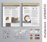 brown brochure template design... | Shutterstock .eps vector #265846523
