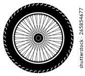 Motorcycle Wheel Vector