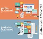 flat design concept for... | Shutterstock .eps vector #265865723
