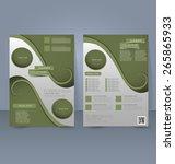flyer template. business... | Shutterstock .eps vector #265865933