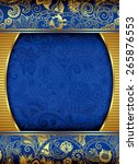 Abstract Gold Floral Frame...