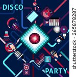 disco party background with... | Shutterstock .eps vector #265878287