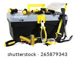 box and tool on white... | Shutterstock . vector #265879343