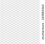 pattern isometric grid vector | Shutterstock .eps vector #265883363