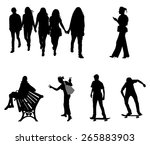 a different set of people... | Shutterstock .eps vector #265883903