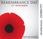 remembrance day card in vector... | Shutterstock .eps vector #265884797