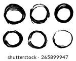 abstract ink circles texture... | Shutterstock .eps vector #265899947