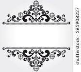 ornamental black background | Shutterstock .eps vector #265908227