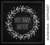 decorative wreaths drawn in... | Shutterstock .eps vector #265910657