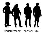 vector silhouette of a man on a ... | Shutterstock .eps vector #265921283