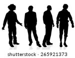 vector silhouette of a man on a ... | Shutterstock .eps vector #265921373