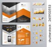 classic white brochure template ... | Shutterstock .eps vector #265933553