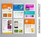 clear brochure template design... | Shutterstock .eps vector #265940117